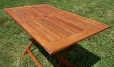 klappbarer Gartentisch Klapptisch 120x70cm aus Eukalyptus Hartholz wie Teak