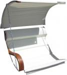 Ersatz Stoffpolster und Dachstoff für Hollywoodschaukel SEAT-MERU (NUR SESSELSTOFF ohne Holzteile)