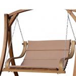 Design Hollywoodschaukel Bank aus Holz Lärche 2-Sitzer BELIZE-LOUNGER (ohne Gestell) inkl. Auflage