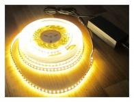 SET 5320 Lumen 10m Led Streifen 1200 LED warmweiß inkl. Netzteil 24 V Pro-Serie TÜV/GS geprüft