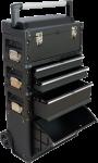 Metall Werkzeugtrolley XXL Type C1-B BLACK EDITION mit Schubladenverriegelung und Schloss