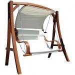 Design Hollywoodschaukel MERU HM101 aus Holz Lärche inkl. Abdeckung