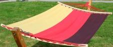 Hängematte 120x200 DE gestreift aus Baumwolle