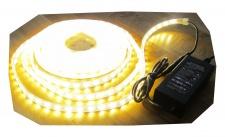 SET 1250 Lumen 5m Led Streifen 300LED warmweiß warm weiß wasserfest IP65 inkl. Netzteil 24V Pro-Serie TÜV/GS geprüft