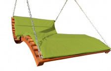 "Design Hollywoodliege "" ARUBA-LOUNGER-GRÜN"" aus Holz Lärche (ohne Gestell)"