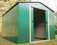 Gartenhaus Geräteschuppen 5, 3m² 2, 5x2m aus verzinktem Stahlblech Metall grün