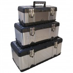 SET 3Stück Werkzeugkisten Materialbox EDELSTAHL