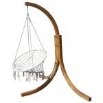 DESIGN Hängesessel NAV-CRUZ mit Gestell aus Holz Lärche komplett mit Hängesessel