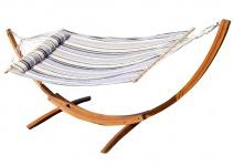 320cm Hängemattengestell XL LIMITED EDITION aus Holz Lärche mit Stab Hängematte gefüttert und Polster Schrauben aus Edelstahl