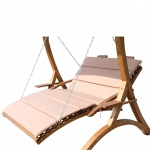 "Design Hollywoodliege "" MACAO-LOUNGER"" aus Holz Lärche (OHNEGestell)"