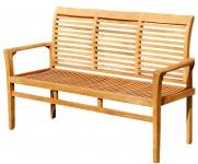 TEAK 3-Sitzer Gartenbank 150cm JAV-ALPEN