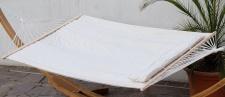 DESIGN Hängematte 150x200cm gefüttert mit Kopfkissen BEIGE aus Baumwolle