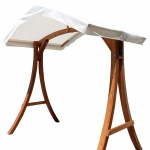 "Design Hollywoodschaukel Gestell "" KUREDO / ARUBA"" aus Holz Lärche mit Dach"