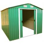Gartenhaus Geräteschuppen 9m² 3x3m aus verzinktem Stahlblech Metall grün