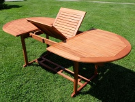 Ausziehtisch 150-200 x 100cm Holztisch Gartentisch Garten Tisch geölt Holz Eukalyptus Hartholz wie Teak