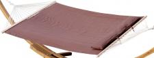 DESIGN Hängematte 150x200 gefüllt mit Kopfkissen BRAUN aus Baumwolle