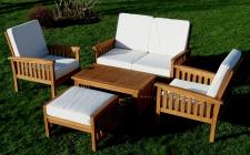 Echt TEAK Gartenlounge Set PUNTA CANA sehr edel und hochwertig mit dicken Sitzkissen