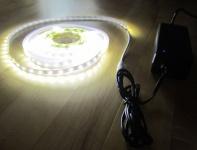 SET 6200 Lumen 5m Ultra-Highpower LED Streifen mit 300 2835 LED's neutralweiß natur weiss naturweiß superhell wasserfest IP65 inkl. Netzteil 24V Pro-Serie TÜV/GS geprüft
