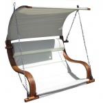 Design Sitzbank für Hollywoodschaukel SEAT-MERU aus Holz Lärche inkl. Dach (ohne Gestell!!)