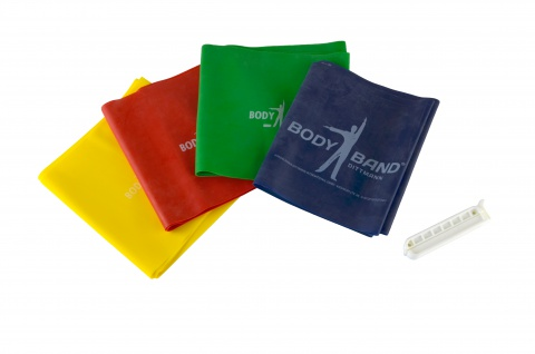Body-Band Set mit Clip 2 m gelb leicht Fitnessband Übungsband Sani-Alt