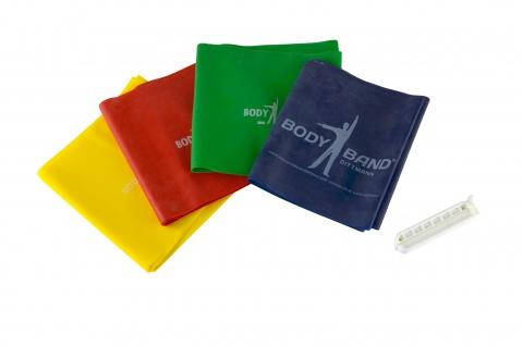 Body-Band Set mit Clip 2 m rot mittel Fitnessband Übungsband Sani-Alt