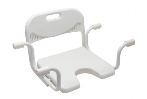 Badewannen-Sitz mit Hygieneausschnitt, Rückenlehne Sani- Alt