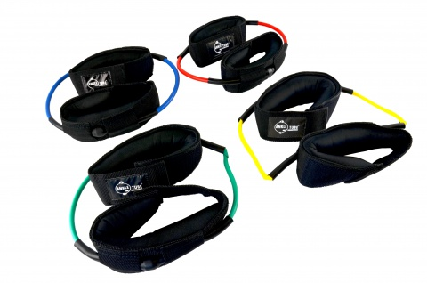 Ankle-Tube blau extra stark für Fußgelenke Fitness Tube Fitnessband Sani-Alt