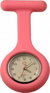 Schwestern-Uhr Krankenschwesteruhr Ansteckuhr mit Silikonhülle rosa Sani-Alt
