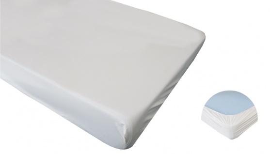Matratzenschutzbezug Spannbettlaken, PVC, weiß, 100 x 200 cm Sani-Alt