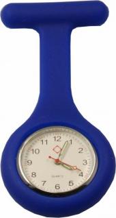 Schwestern-Uhr Krankenschwesteruhr Ansteckuhr mit Silikonhülle blau Sani-Alt