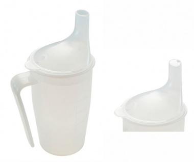 Trinkbecher-Set mit Griff, Tee und Brei, langes Mundstück, transparent