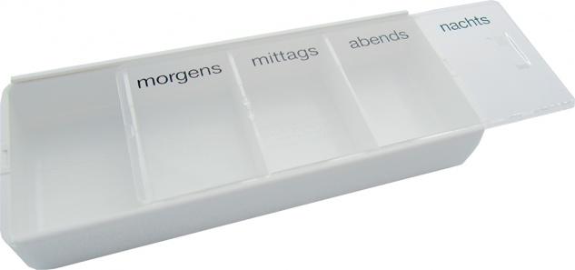 Tablettendose, groß, 4-Fächer Sani-Alt