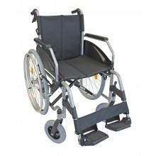 Rollstuhl LEXIS 45cm TB silber verstellbare Sitzhöhe Sani-Alt