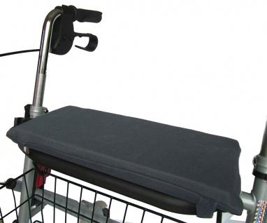 Rollator Sitzkissen Sitzpolster rutschhemmend mit Gummizug schwarz Sani-Alt