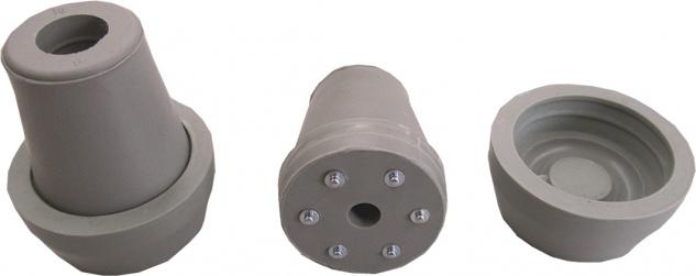 Krückenkapsel mit Spikes, grau, 20mm Sani-Alt