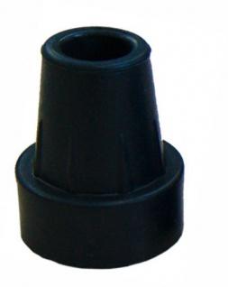 Krückenkapsel mit Stahleinlage, schwarz, 20mm Sani-Alt