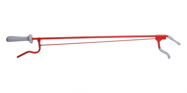 Greifzange Metall, ca. 70cm rot Sani-Alt