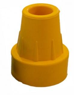 Krückenkapsel mit Stahleinlage, gelb, 16mm Sani-Alt