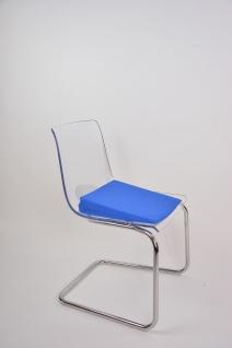Keilkissen mit Baumwollbezug BLAU Sitzkissen Sitzerhöhung Keil Sani-Alt