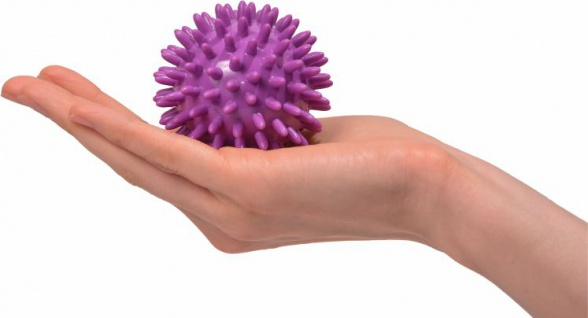 Igelball Noppenball Massage Ball VIOLETT ø 7 cm Sani-Alt