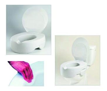 Toilettensitzerhöher Rehosoft, 10cm, mit Deckel Sani-Alt