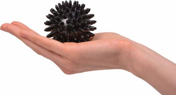 Igelball Noppenball Massage Ball SCHWARZ ø 7 cm Sani-Alt