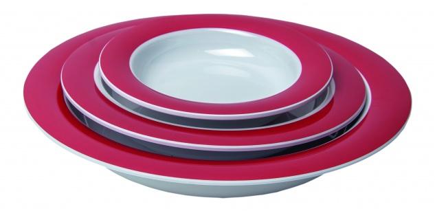 Schüssel 903 Schale tiefer Teller rot-weiß Ø 15.5cm Sani-Alt