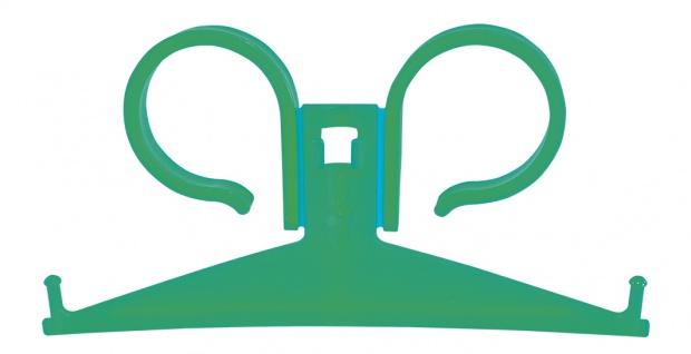 Bettbeutel-Halter Kunststoff GRÜN Beutelhalterung Sani-Alt