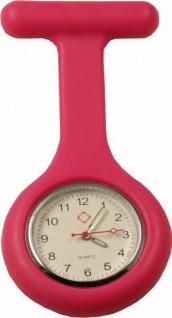 Schwestern-Uhr Krankenschwesteruhr Ansteckuhr mit Silikonhülle pink Sani-Alt