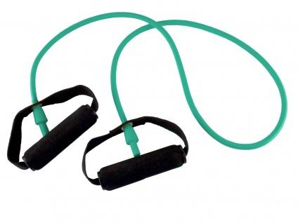 Body-Tube 125 cm grün stark mit Schaumgriff Tube Fitnessband Sani-Alt