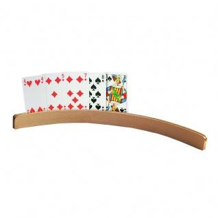 Spielkartenhalter Kartenhalter HOLZ gebogene Form KLEIN Sani-Alt