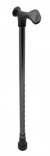 Gehstock mit anatomischen Griff, links, schwarz Sani-Alt