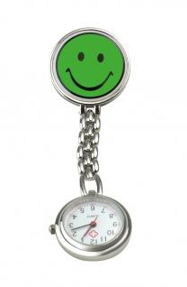 Schwestern-Uhr SMILEY grün Sani-Alt