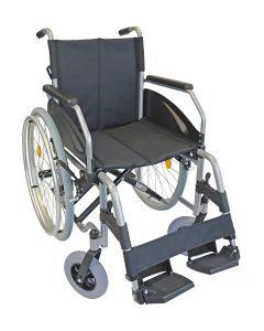 Rollstuhl LEXIS 48cm silber verstellbare Sitzhöhe Sani-Alt